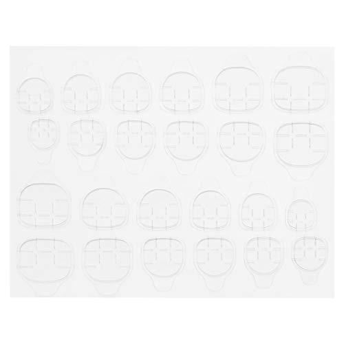 Lurrose Adesivo per Colla per Unghie da 16 Fogli Adesivo per Punte False su Entrambi i Lati Colla per Unghie ecologicamente Trasparente