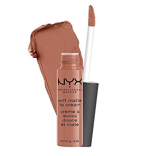 NYX PROFESSIONAL MAKEUP Soft Matte Lip Cream Rossetto, Finish Matte e Cremoso, Colore Extra-Pigmentato, Long Lasting, Tonalità Abu Dhabi