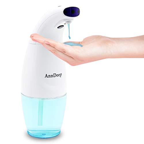 Dispenser Sapone Automatico Dispenser di Schiuma Touchless, Dispenser Disinfettante per Mani, Due Contenitori 570ML