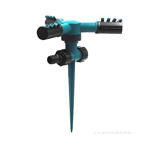 EisEyen - Irrigatore automatico per prato, regolabile a 360 gradi, per acqua da giardino, sistema di raffreddamento con design a prova di perdite, resistente spruzzatore a 3 bracci