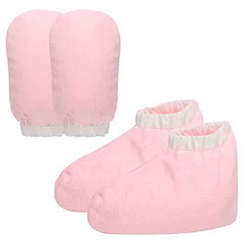 Guanti e stivaletti da bagno in cera di paraffina, guanti per la cura della cera Segbeauty Cozies Guanti di protezione in spugna di cotone rosa per terapia termica Abbronzatura per trattamenti termali