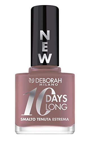 Deborah Smalto 10 Days Long N.883 Taupe Rose, Tenuta fino a 10 giorni senza ritocco o lampada UV, per unghie nutrite e luminose
