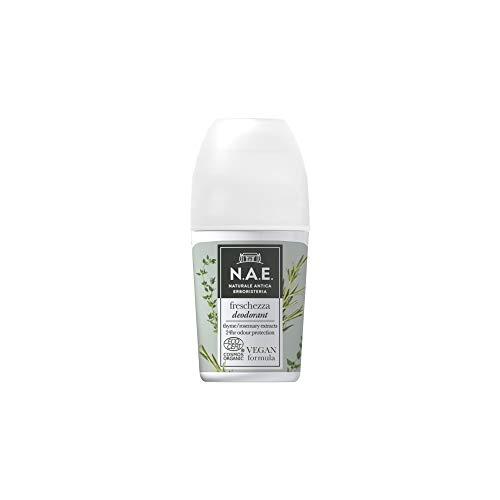 N.A.E. Deodorante Freschezza, con Estratti di Foglie di Timo Biologico e Rosmarino, Formula Vegana, 50 ml