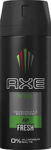 Domestos Axe Deo Spray Africa senza alluminio 150ML, confezione da (3X 150ML)