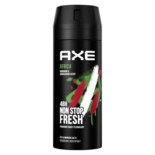 AXE - Spray per il corpo per un profumo di lunga durata Africa senza sali di alluminio, 150 ml