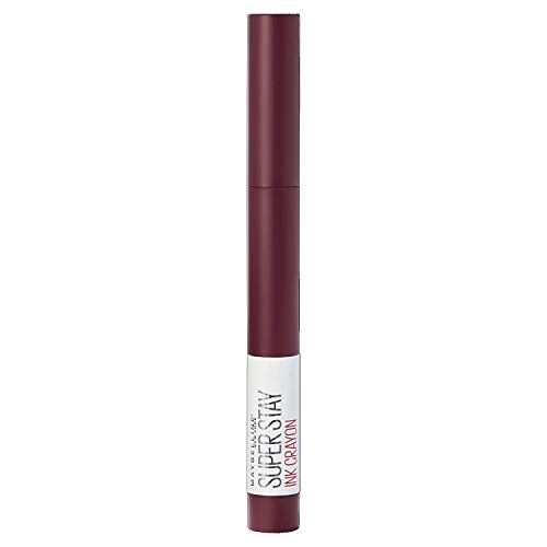 Maybelline New York Rossetto Matita SuperStay Ink Crayon, Colore Matte a Lunga Tenuta, Settle for More (65),