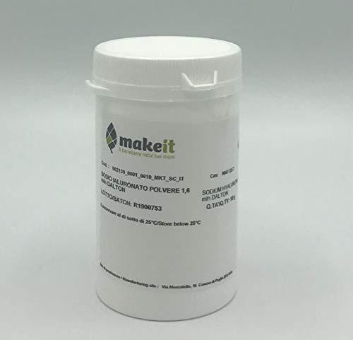 Sodio ialuronato (Acido ialuronico) polvere, antiage e idratante (1,6 mln Dalton) (10 g)