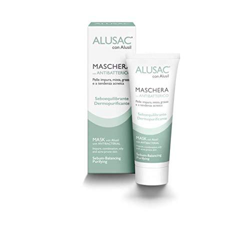 ALUSAC - Maschera Viso per Pelle Grassa e Impura, Dermopurificante, Opacizzante e Lenitiva, per una Pelle Omogenea e Levigata, 75 ml