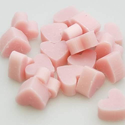 Florex, sapone al latte di pecora, a forma di cuore, di colore rossa, confezione da 100 in sacchetto di organza, sapone al profumo di magnolia, perfetto regalo per ospiti