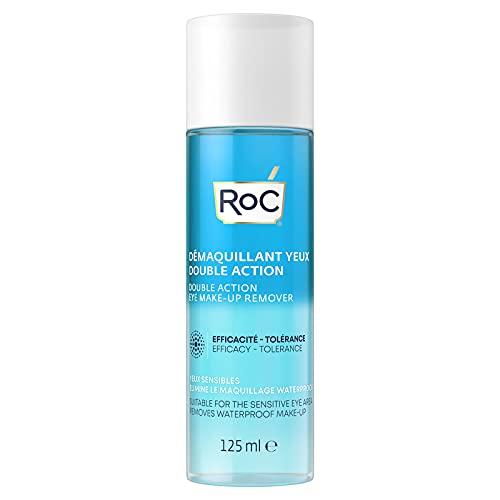 RoC - Struccante Occhi a Doppia Azione - Combinazione di Acqua e Olio - Rimuove il Trucco Waterproof - Minimizza i Rischi di Allergia - 125 ml