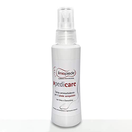 Pedicare. Spray per Pediluvio, idratante, emolliente e nutriente specifico per piedi e talloni secchi e screpolati. Per il trattamento della pelle secca, molto secca, ruvida e screpolata dei piedi.