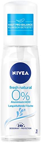 NIVEA Deodorante spray da donna, senza alluminio, 75 ml, Fresh Natural