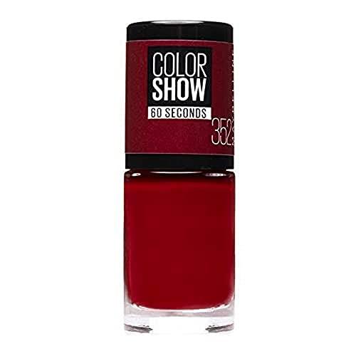 Maybelline New York Color Show Smalto Asciugatura Rapida, 352 Downtown Red