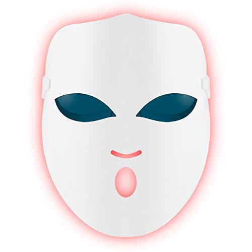 REAKOO LED Light Therapy Mask Maschera Per Fototerapia Photon Terapia, Maschera facciale leggera, Anti Acne Maschera, Trattamento Bellezza Pelle Ringiovanimento Fototerapia Maschera Bellezza