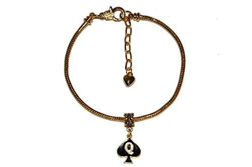 Cavigliera Queen Of Picche smaltate Euro cavigliera gioiello QOS cornuto oro - Sexy Jewels