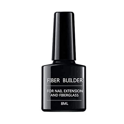 8ml unghie in gel trasparente Bulider Fiber Nail Extension Builder Base Gel Soak Off UV LED Miglioramento delle unghie Strumento di riparazione delle unghie a lunga durata per unghie rotte