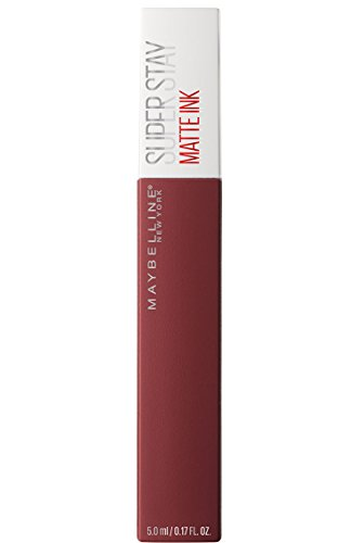 Maybelline New York Superstay Matte Ink Rossetto Matte Liquido Tinta Labbra a Lunga Tenuta, Confezione Singola, 50 Voyager