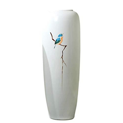 Vasi in Ceramica for centrotavola, Decorazioni Flower Vase, Pavimento in Vaso di Ceramica Bianca Grandi Ornamenti Vivere Semplicemente Sala Home Mobile TV Portico Girl Tatuaggi (Color : D)