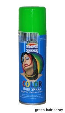 Fiestas Guirca Spray Verde Fluo lacca Colorata per Capelli
