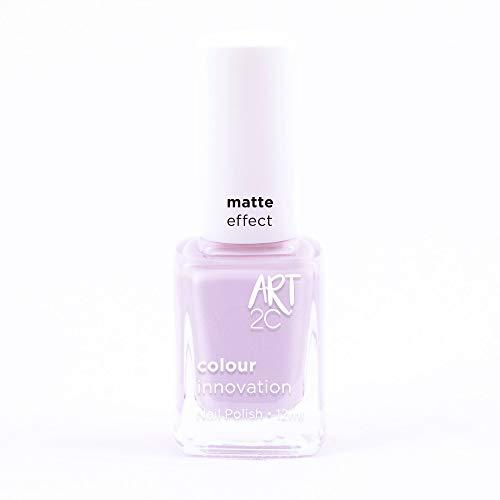 Art 2C So Innocent Matte Effect Nail Polish - Smalto per unghie effetto opaco, 11 colori, 12 ml, colore: MT39