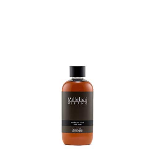 Millefiori Milano Natural Ricarica per Diffusore di Aromi per Ambiente, Fragranza, Vanilla & Wood, 250 ml