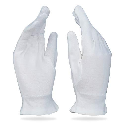 Beauty Care Wear Guanti di Cotone Medio Bianco Per Eczema, Pelle Secca e Idratante - 20 Guanti