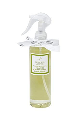 Spray igienizzante profumato per tessuti e superfici 250ml Alcool al 90% (TEA VERDE,POMPELMO ROSA E MANDARINO)