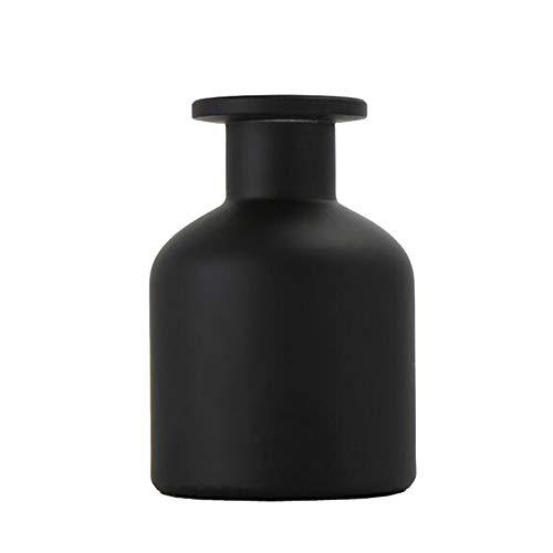 150ml Bombolette vuote ricaricabili in vetro vasetti per aromaterapia contenitore per aromaterapia accessori per la sostituzione fai da te set di bastoncini di oli essenziali decor artigianali Nero