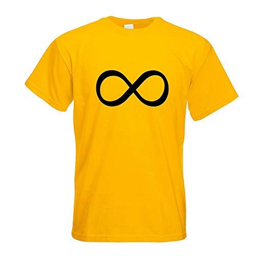 Styletex23 - Maglietta con simbolo dell'infinito giallo. XXL