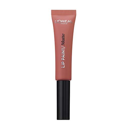 L'Oréal Paris Infallibile Lip Paint Matte Rossetto Liquido, Effetto Semi Matte, 201 Hollywood Beige