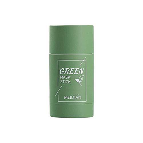 Enkomy Maschera in Stick all'argilla purificante al tè Verde, Controllo dell'olio per la Pulizia Profonda Copertura Fissa Anti-Acne Rimozione dei Punti Neri Copertura del Viso tè Verde/Melanzana