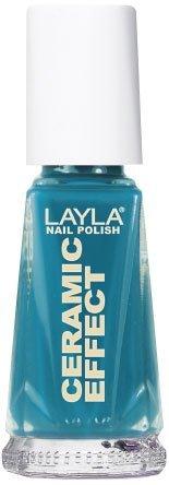 Smalto Layla Ceramic Effect N.25 Vintage Turquoise Nail Polish by LAYLA COSMETICS
