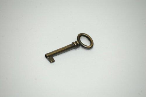 chiave, chiave per mobile, chiave per armadio, metallo brunito 67 mm