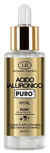 HYAL, acido ialuronico puro in gel, NULLA IDRATA DI PIU! L'unico con Veleno d'Ape e Vitamina C (1x30ml) - LR Wonder Company