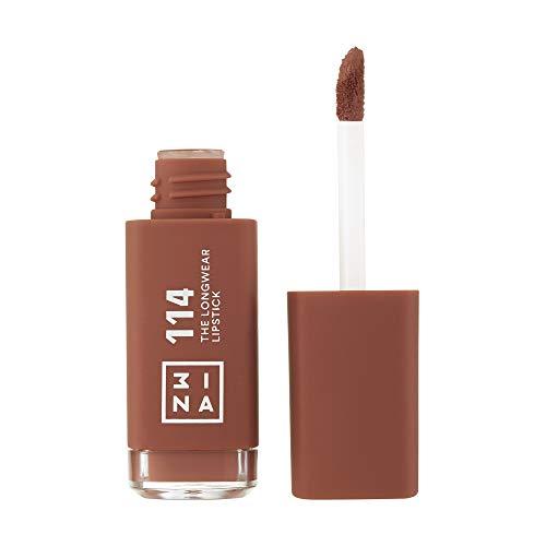 3ina Makeup - Trucco Cruelty Free - Vegan - The Longwear Lipstick 114 - Marrone Chiaro - Rossetto Liquido Mat A Lunga Durata - 6.5 ml