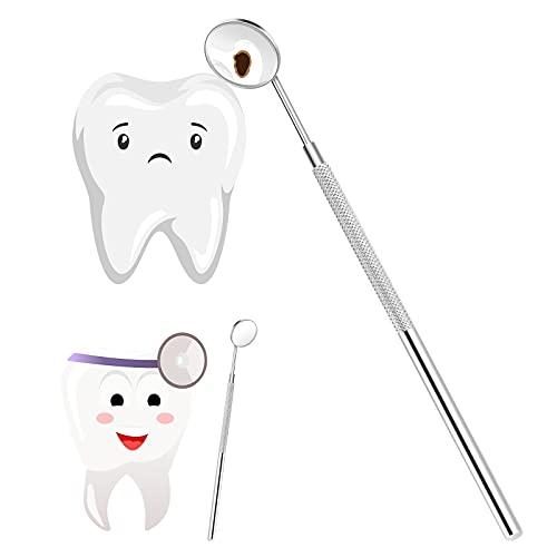 Vkospy Bellezza dell'Acciaio Inossidabile Trucco Specchi Strumenti di Dentista per Estensioni Ciglia/Ispezionare Instrument