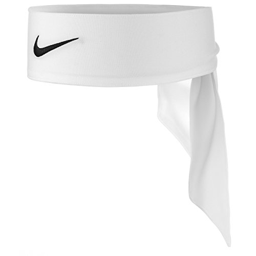 Nike - Fascia per la testa Dri-Fit 2.0, per la protezione delle tue orecchie, Donna, Nike Dri-fit Head Tie 2.0, bianco, taglia unica
