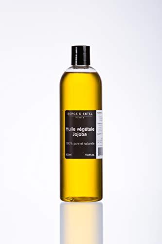 Olio Vegetale di Jojoba - 500 ml 100% Pure e naturelle-soin della pelle e de capelli -soin contro l acne