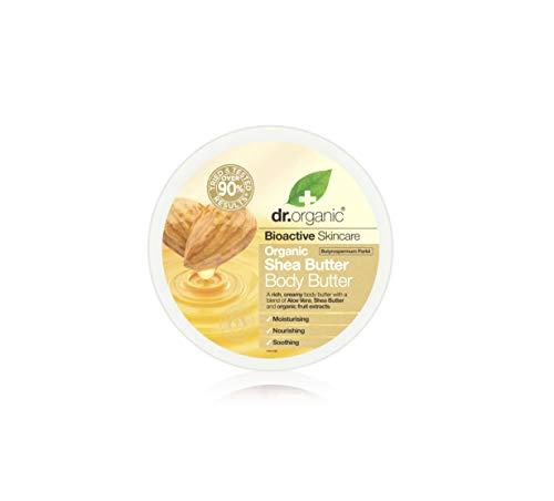 Dr. Organic Shea Butter Body Butter, Burro Corpo Al Burro Di Karitè. Trattamento Corpo Ricco e Idratante