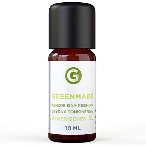 Greenmade - Olio essenziale di Benzoe Siam Resinoide, 10 ml, 100% naturale