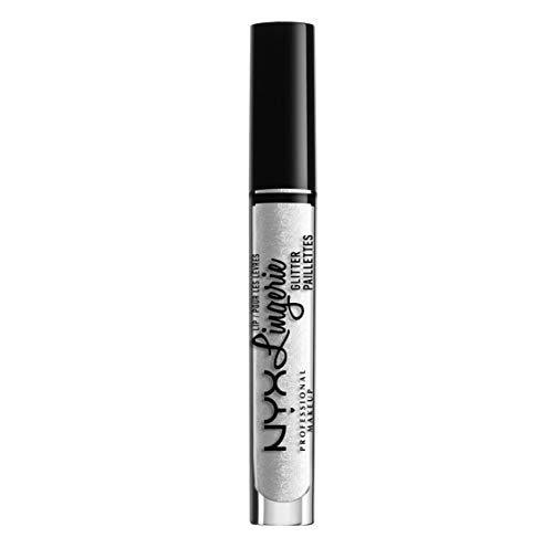 NYX Professional Makeup Rossetto Tinta Labbra Lip Lingerie Glitter, Clear