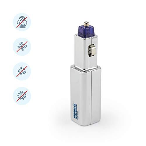IDROBASE BKM Plug-in, purificatore d'aria 2in1, ionizzatore auto con presa accendisigari. Depuratore auto, air purifier, diffusore auto (accessori auto, gadget auto)