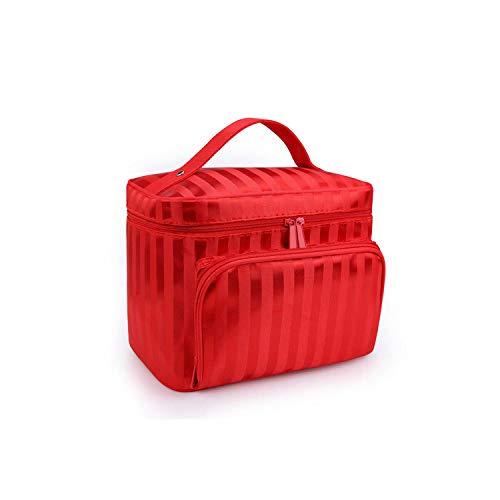 Organizer per cosmetici  Fashion Large Make Up Bag Scatola cosmetica Custodia per gioielli Borsa portaoggetti Beauty Toiletry Container Organizer-come immagine-