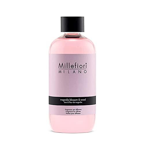 Millefiori Milano ricarica per diffusore di fragranza per ambienti | Magnolia Blossom & Wood | 250 ml di fragranza
