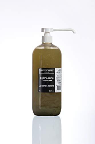 Shampoo Capelli Grassi 1L Purificante Riequilibrante Shampoo Naturale con Olii Essenziali Argilla Verde e Proteina di Seta