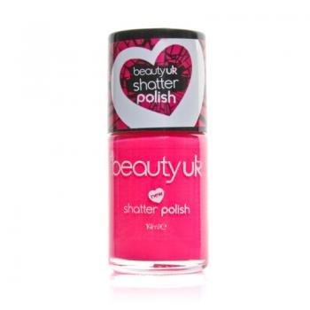Beauty UK infrangibile in smalto per le unghie a effetto cracklé, colore: rosa