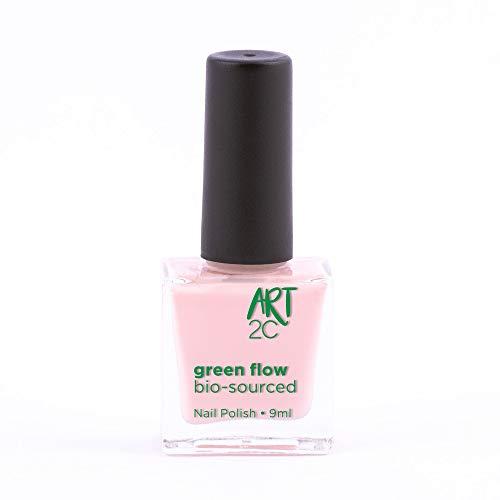 Art 2C, smalto per unghie vegan e bio 85% brevettato, ultra-puro, 24 colori, 9 ml, colore: Coconut 23