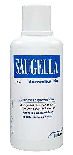 Saugella, Dermoliquido, Detergente Per L'Igiene Intima Quotidiana a base di Salvia Officinalis, 500 ml