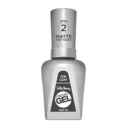 Sally Hansen - Top Coat Matte Miracle Gel - Top Coat Gel Senza Lampada UV - Effetto Manicure Professionale a Lunga Durata - 14,7 ml