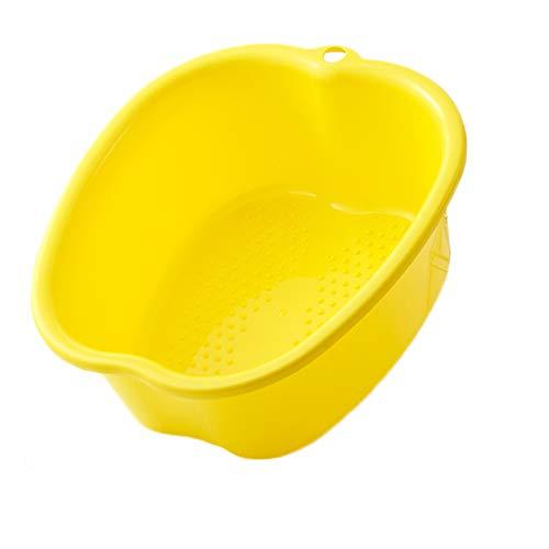 Alywint Grande Vasca Idromassaggio Per Pediluvi,Può Aiutare La Ciotola Per Il Massaggio Dei Piedi, Il Robusto Bacino Di Plastica, Allevia La Fatica E Rilassa L'Umore (Yellow)